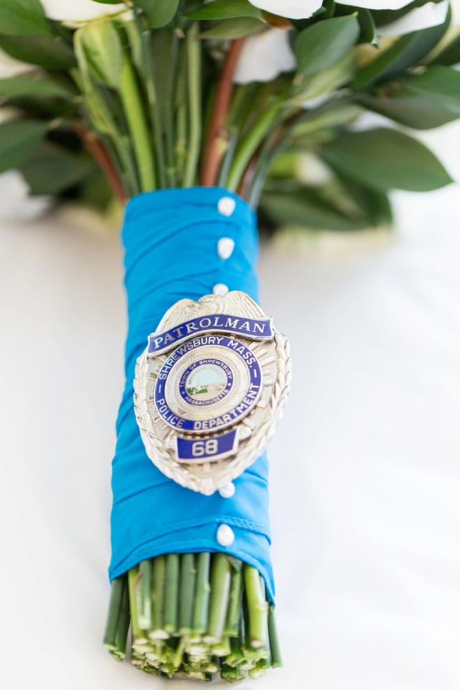 Grooms police badge...