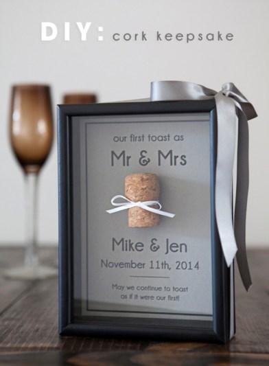 Cork keepsake frame
