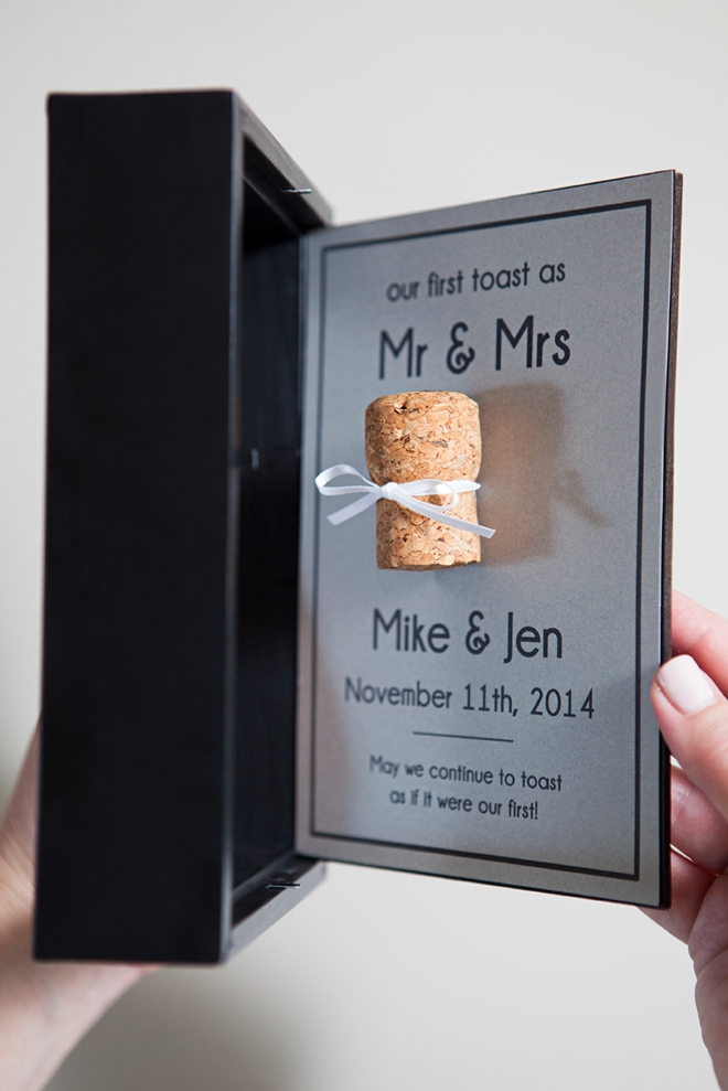 DIY cork keepsake frame