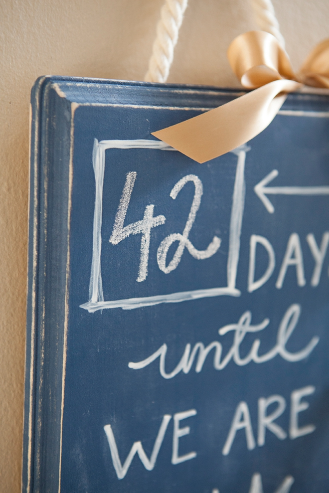 DIY Wedding Countdown Sign