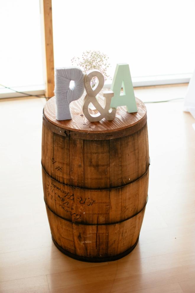 P & A - wedding initials