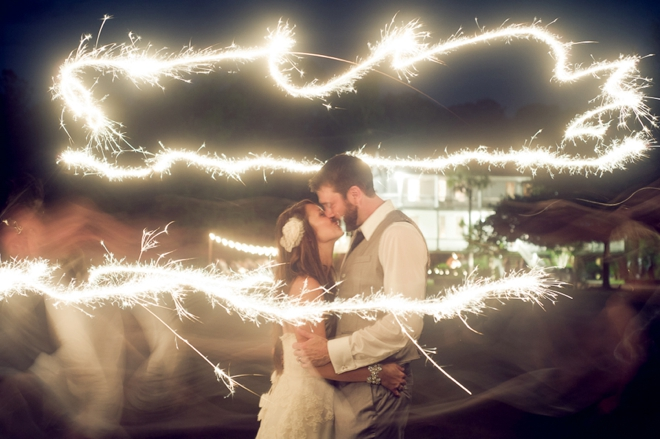 bride and groom sparkler picture