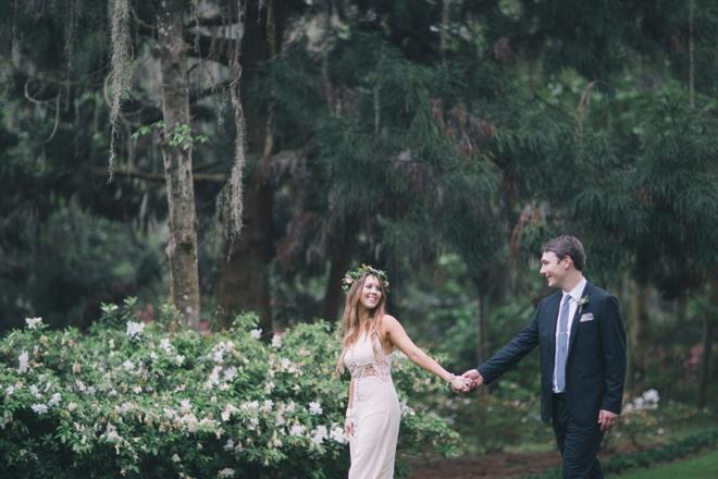 Gorgeous boho bride and groom