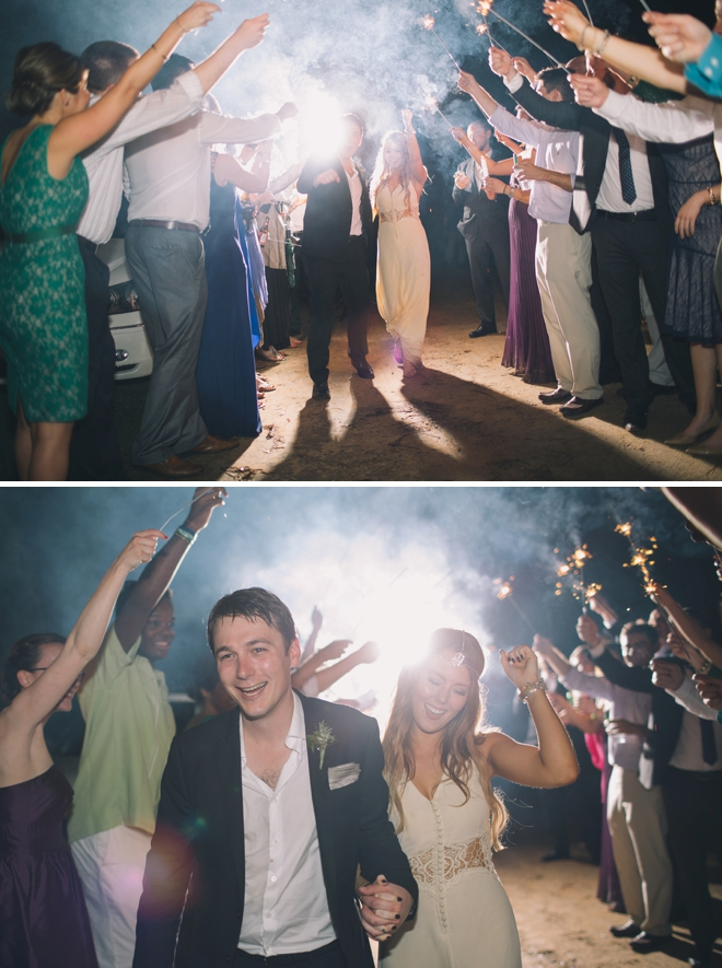 Awesome sparkler exit