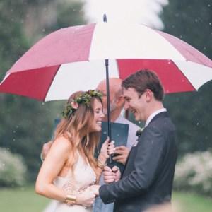 Lovely boho wedding in the rain...