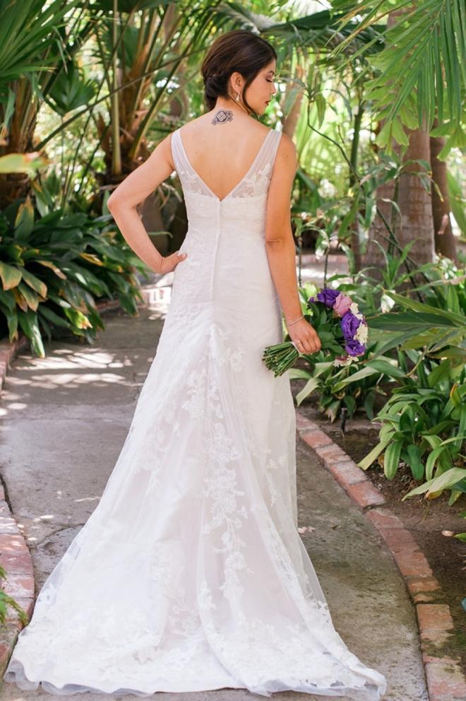 back of bride