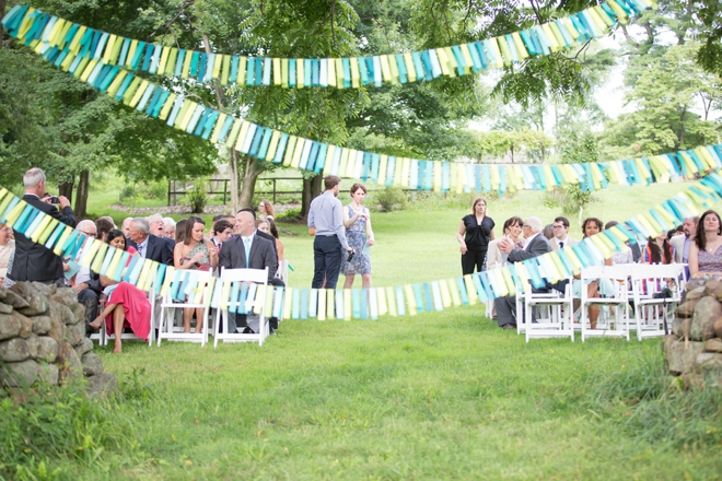 Colorful wedding ceremony backdrop