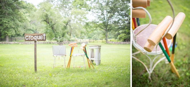 Wedding croquet