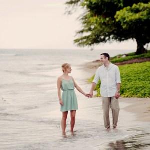 Hawaii beach engagement shoot