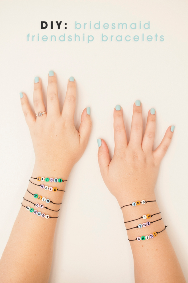 DIY - bridesmaid friendship bracelets