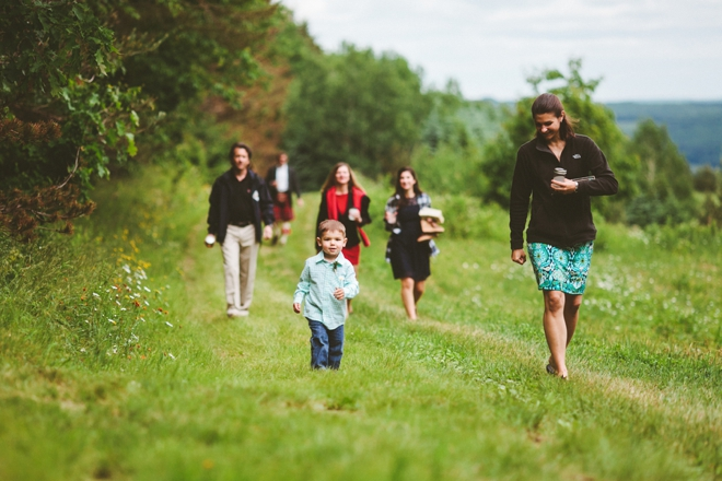 Walking to the wedding