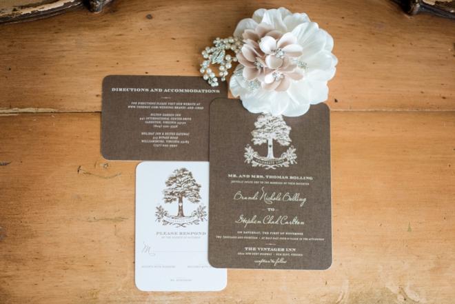 Chad and Brandi planned a beautifully DIYed fall wedding – Diy Fall Wedding Invitations