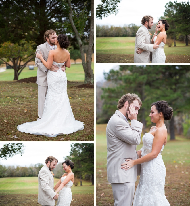 Super sweet wedding first look