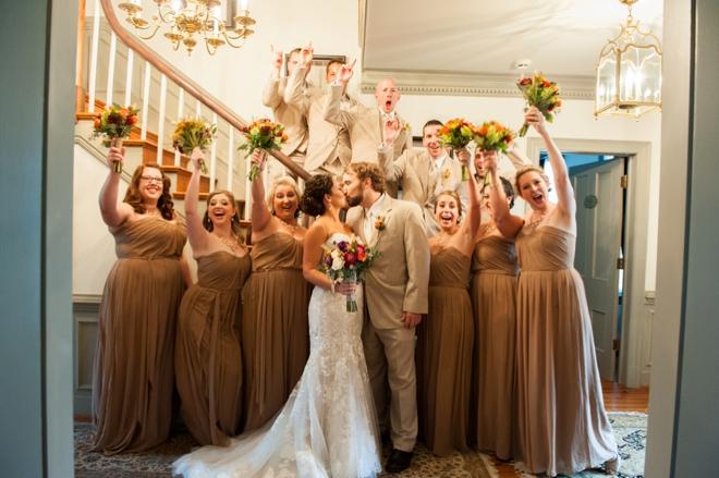 Fall bridal party