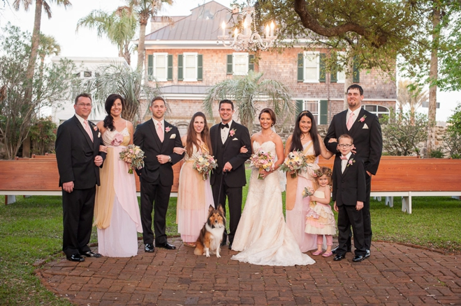 Gorgeous pale pink wedding party
