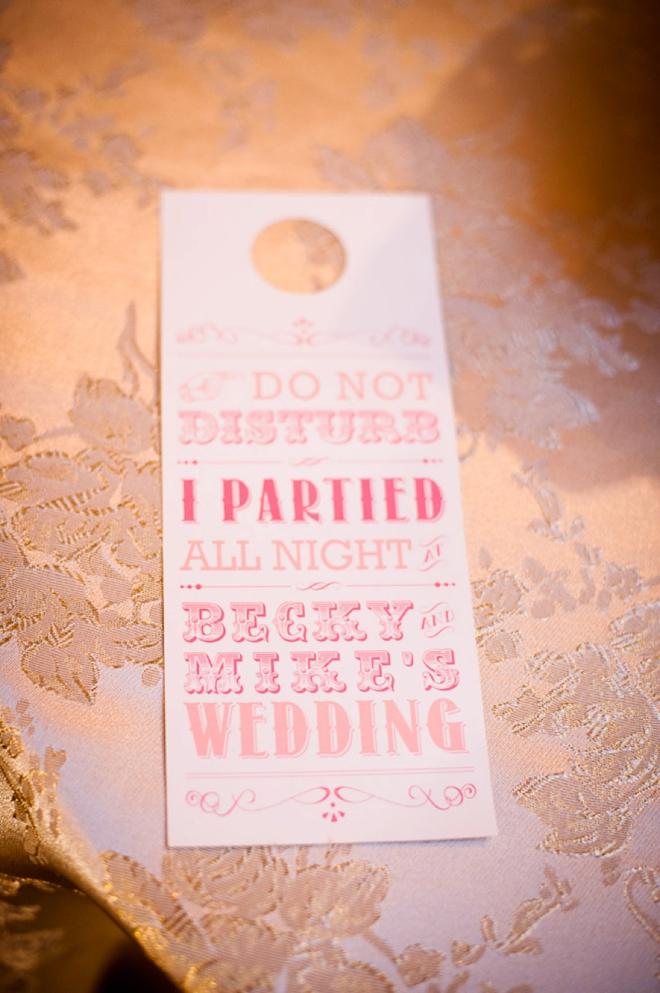 Do Not Disturb wedding sign