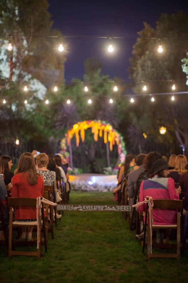 DIY - Wedding ceremony aisle tie-off sign