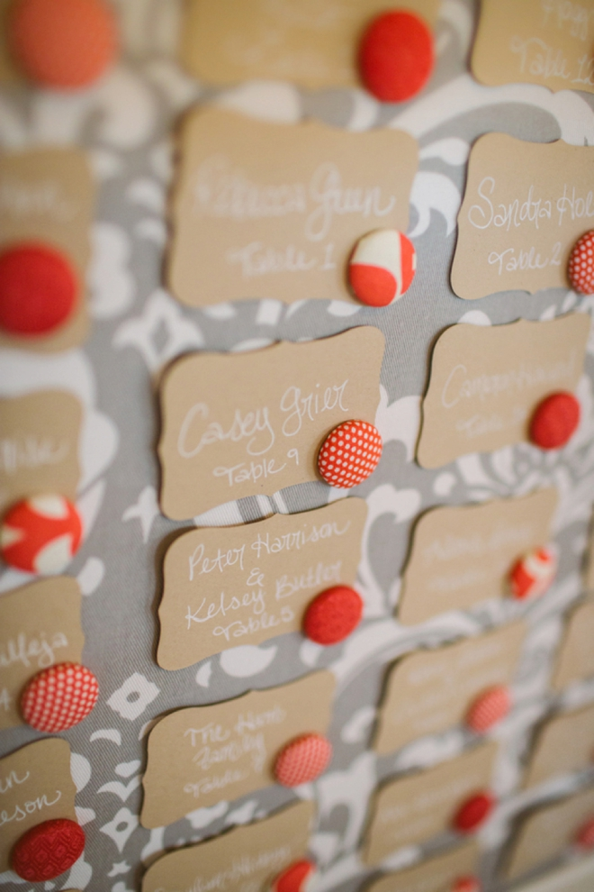 Magnet board escort cards