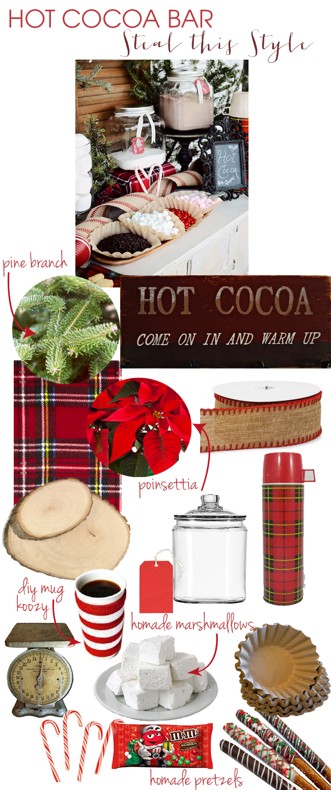 Steal This Style -- Hot Cocoa Bar!