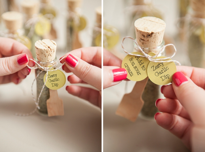Make your own adorable spice dip mix wedding favors diy wedding favors zesty garlic dip mix junglespirit Gallery