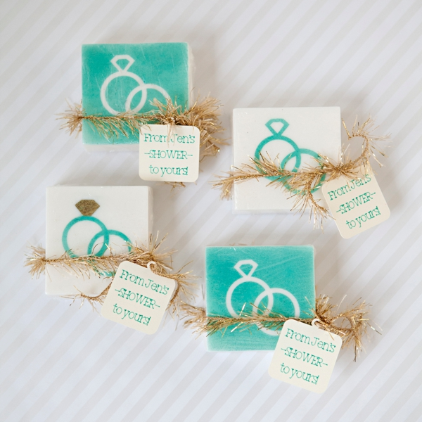 DIY Wedding How To Make Stenciled Soap Favors