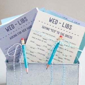 Free Printable Wedding Mad libs