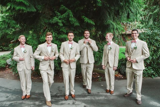 Khaki groomsmen