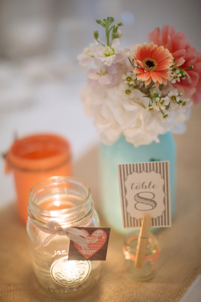 Painted mason jar decor