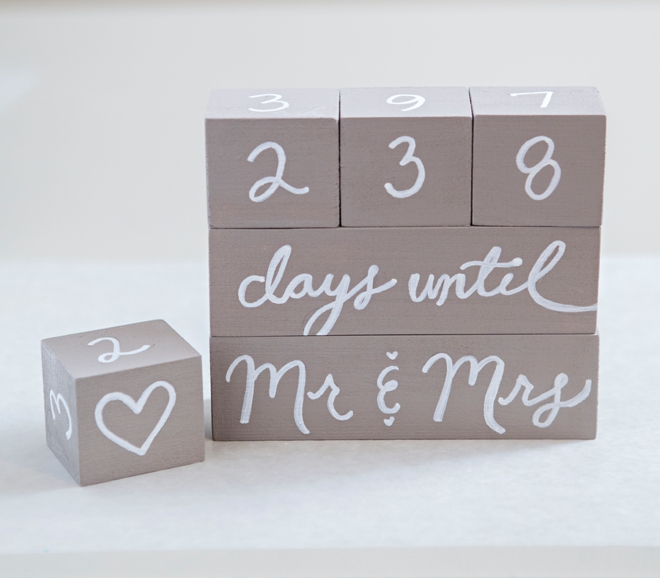 learn how to make your own wedding countdown blocks! Wedding Countdown Photos how to make wedding countdown blocks wedding countdown photos