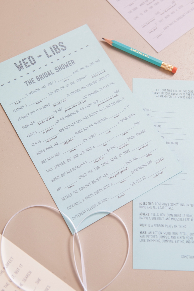 Print your own Wedding Mad-libs for FREE - 9 themes!