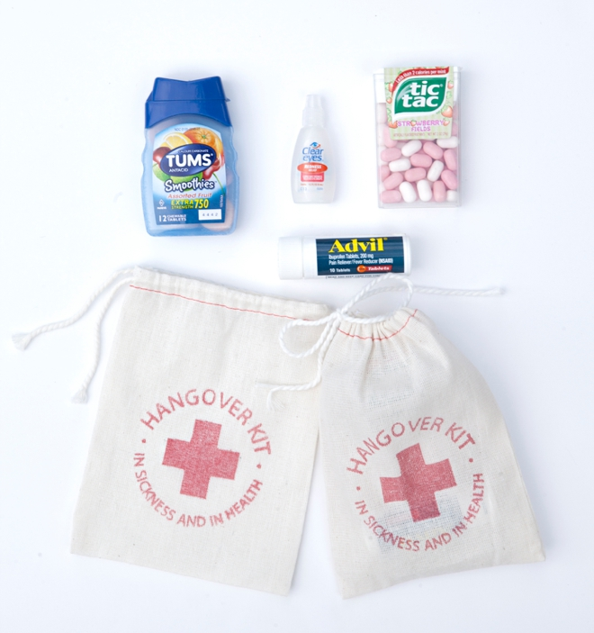 Hangover Kit bags from Be Collective