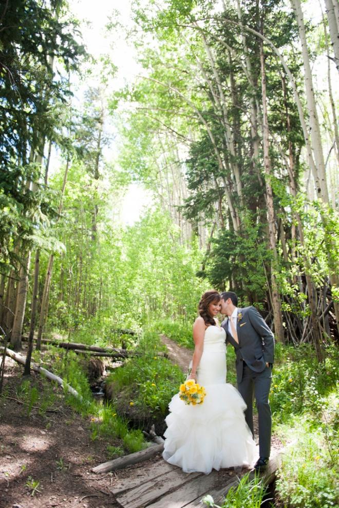 Yellow DIY wedding in Breckenridge