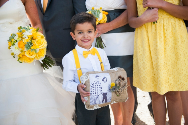 Ring bearer with his custom pillow