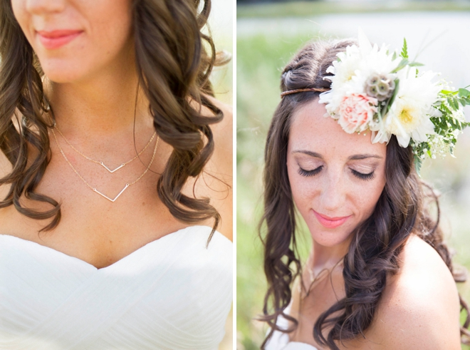 Gorgeous bride and her flower crown