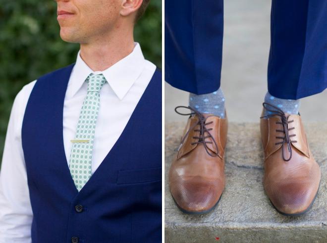 Navy blue groom