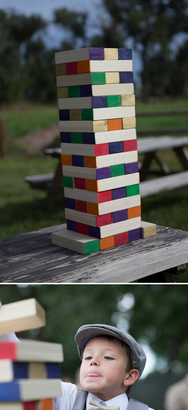 Giant wedding jenga