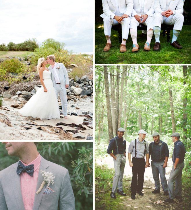 Preppy groom attire
