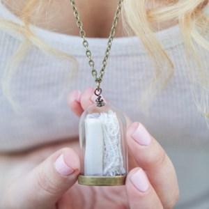 DIY Wedding Dress Keepsake Necklace