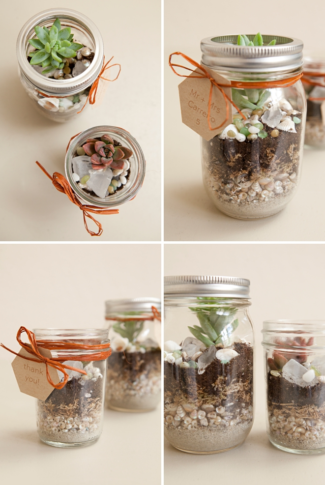 DIY Wedding Favor Terrariums