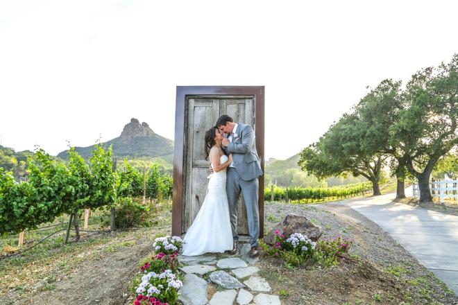 Lovely DIY vineyard wedding