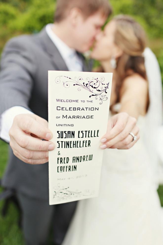 Wedding program shot