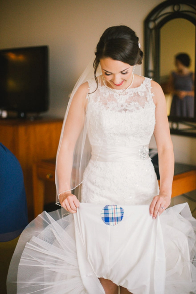 The brides something blue