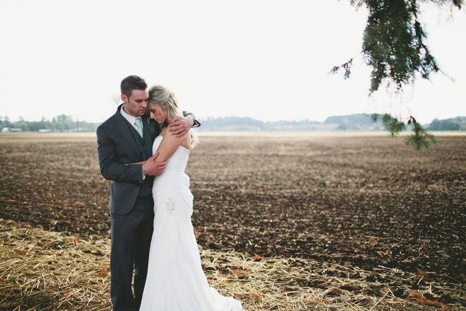 Rustic, turquoise DIY wedding