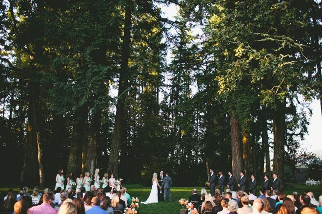 Gorgeous rustic ceremony