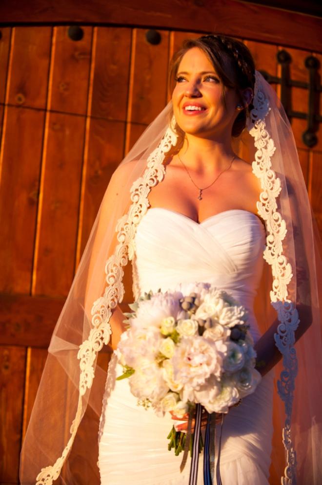 Gorgeous sunlit bride