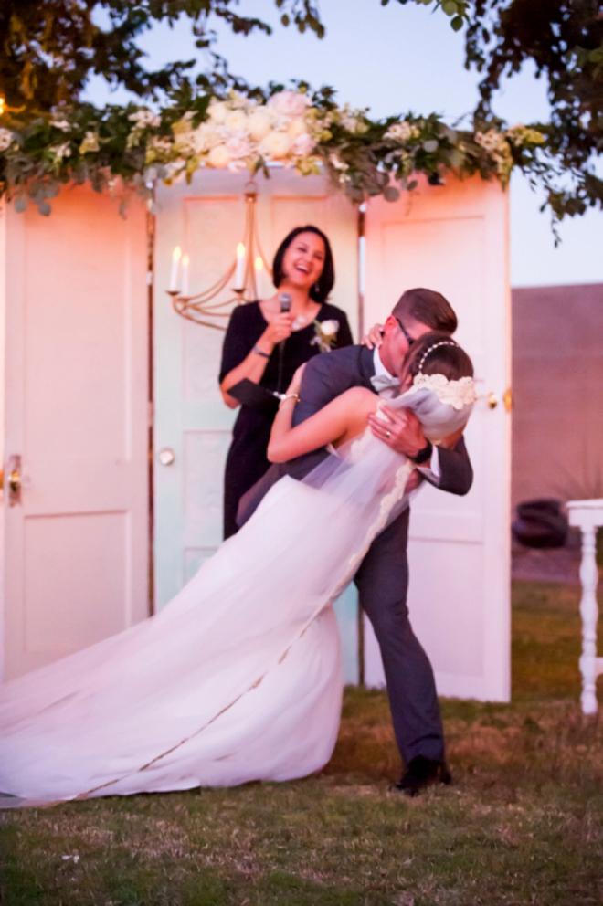Lovely backyard wedding ceremony