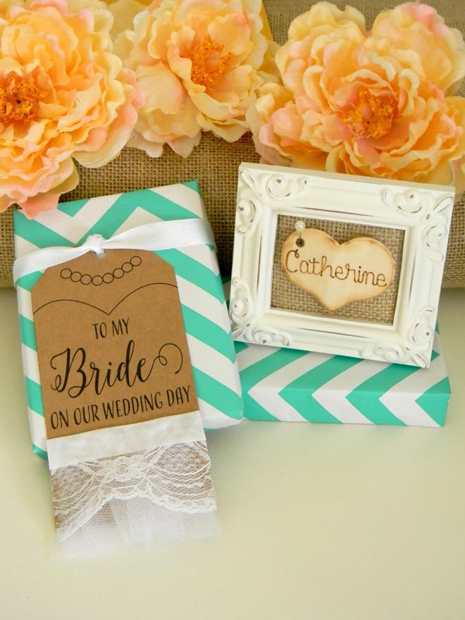 FREE bride wedding gift tag printable file