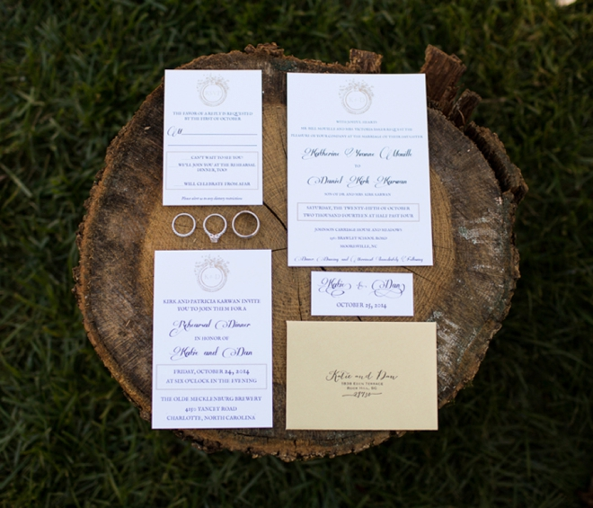 The bride made their invitations
