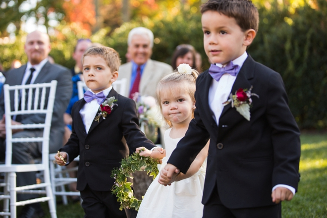 Darling ring bearers and flower girl