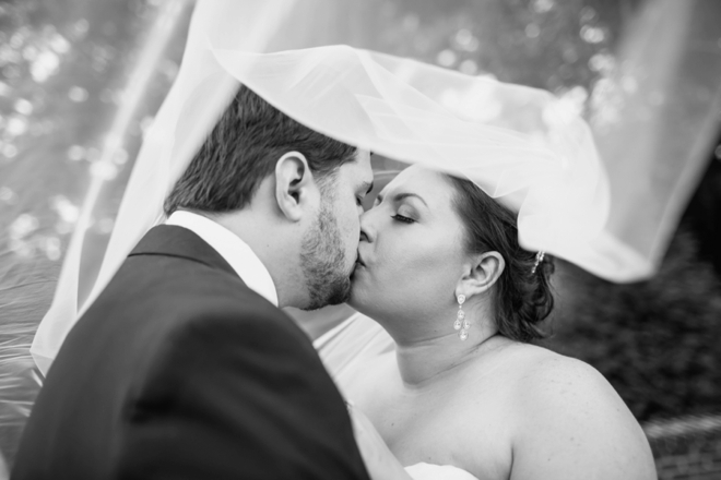 Kissing under the veil